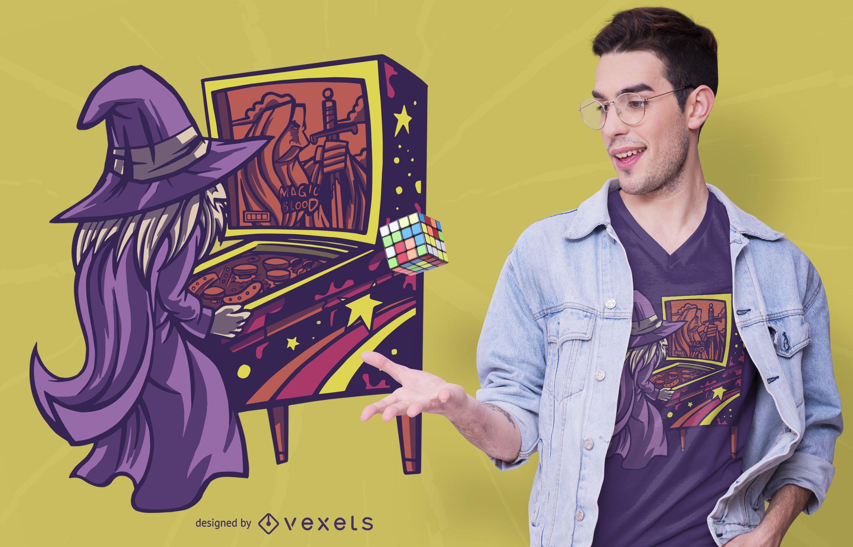 Diseño de camiseta Pinball Wizard