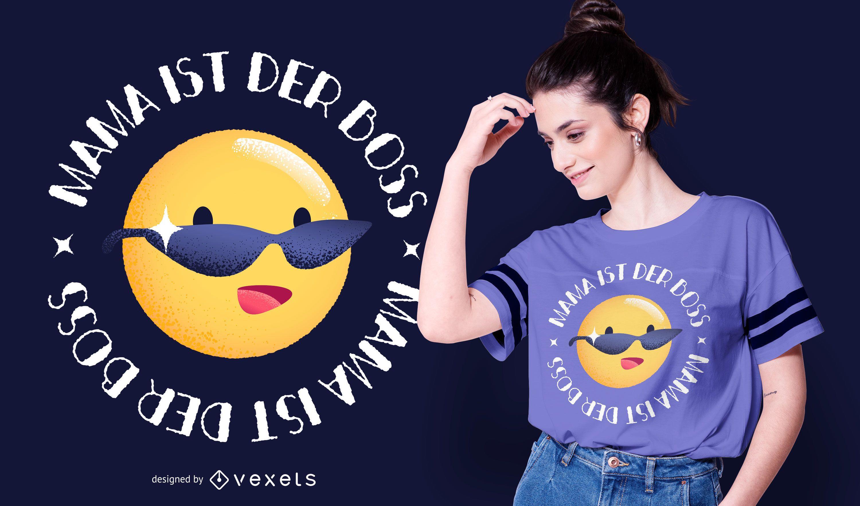 Boss Mama German Quote T-shirt Design