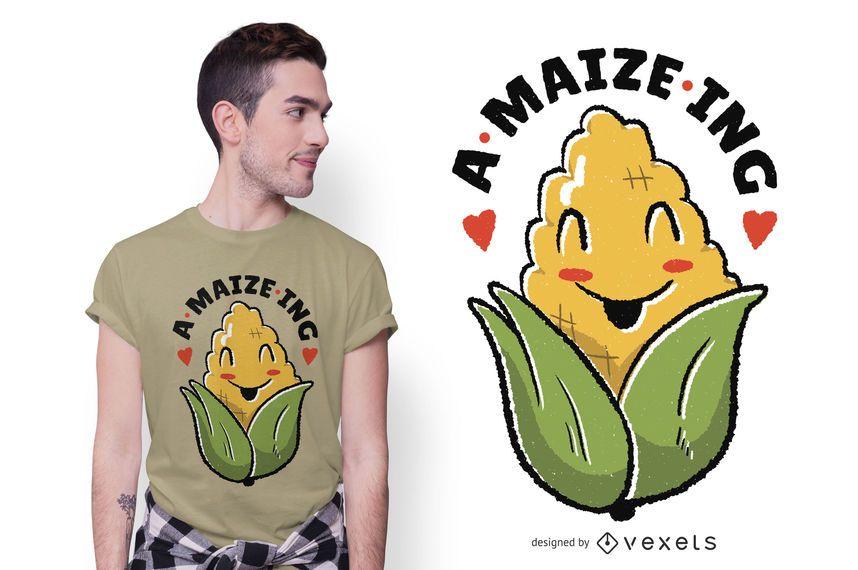 Amazing Maize Cartoon T-shirt Design
