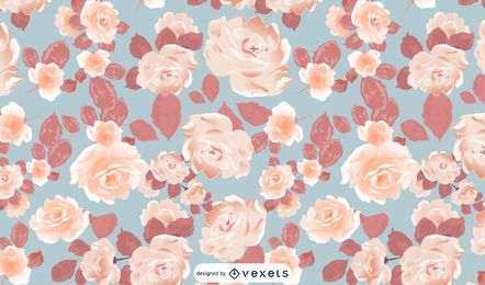 Illustrated Flowers Pattern Design