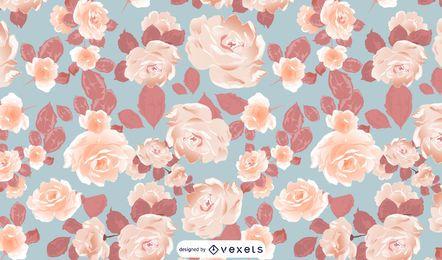Projeto de padrão de flores ilustrado