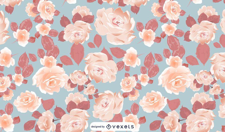 Illustrated Flowers Pattern Design