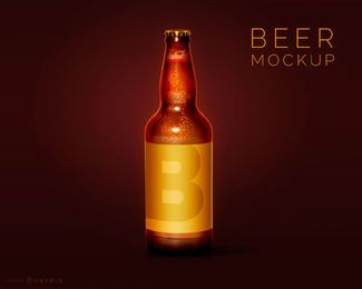 Beer Bottle Mockup Design