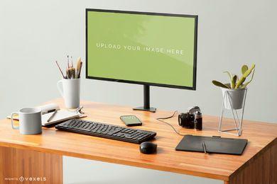 Diseño de maqueta de pantalla de computadora
