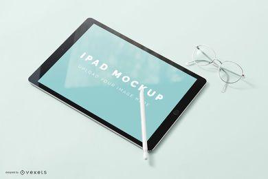 Diseño de maqueta de pantalla de iPad