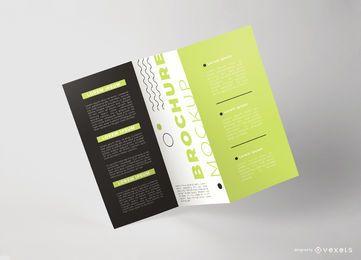 Modelo de folheto flutuante dobrável em três partes