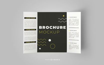 Design de maquete editável de brochura aberta