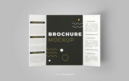 Diseño de maqueta editable de folleto abierto