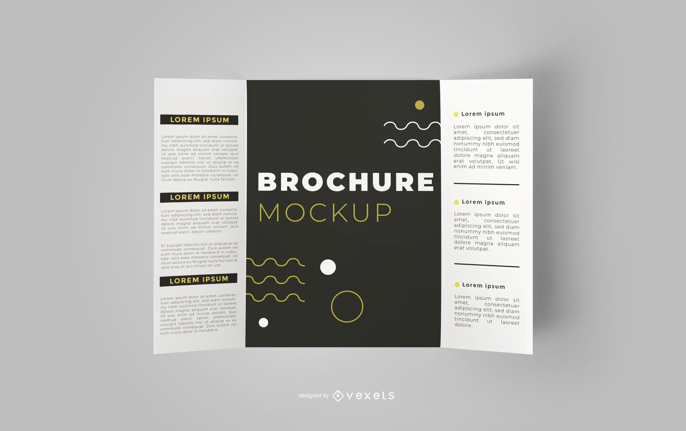 Open Brochure Editable Mockup Design