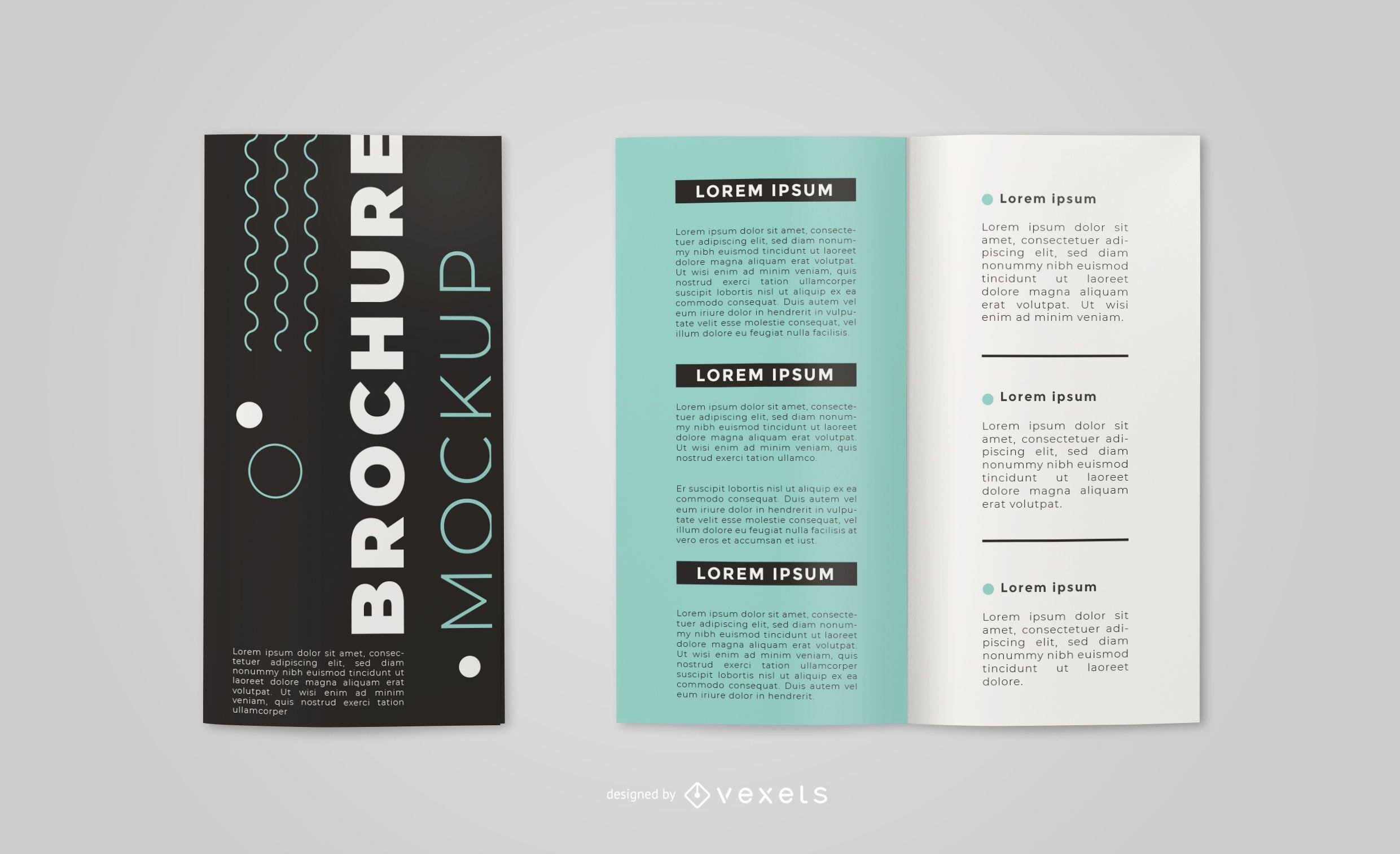 Simple Brochure Mockup Design
