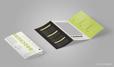 Diseño de maqueta de folleto isométrico