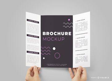 Hands Opening Brochure Mockup