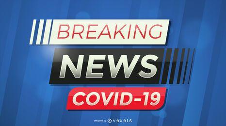 Banner de notícias de última hora covid-19