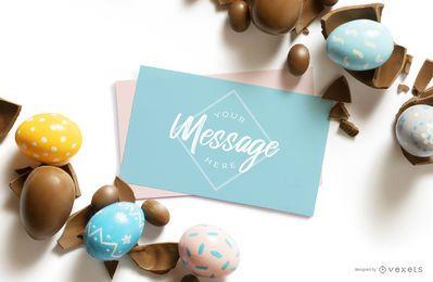 Composición de maqueta de carta de Pascua