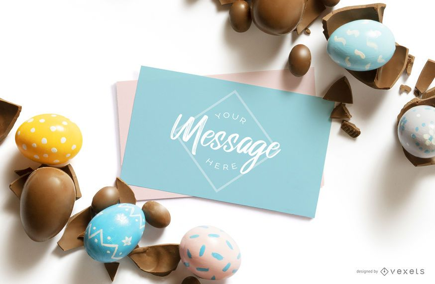 Easter letter mockup composition
