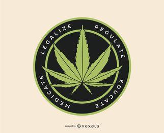 Plantilla de logotipo de marihuana