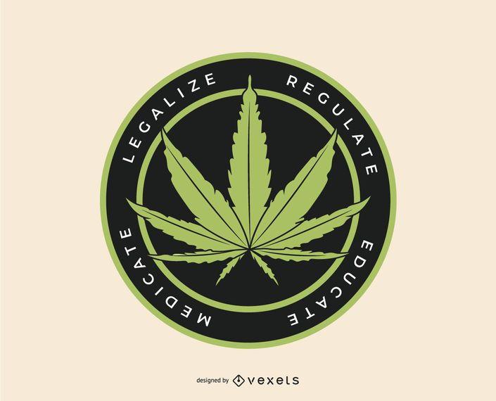 Marihuana-Logo-Vorlage