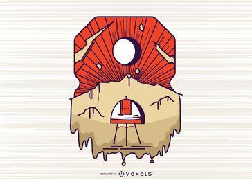 Number 8 illustration design