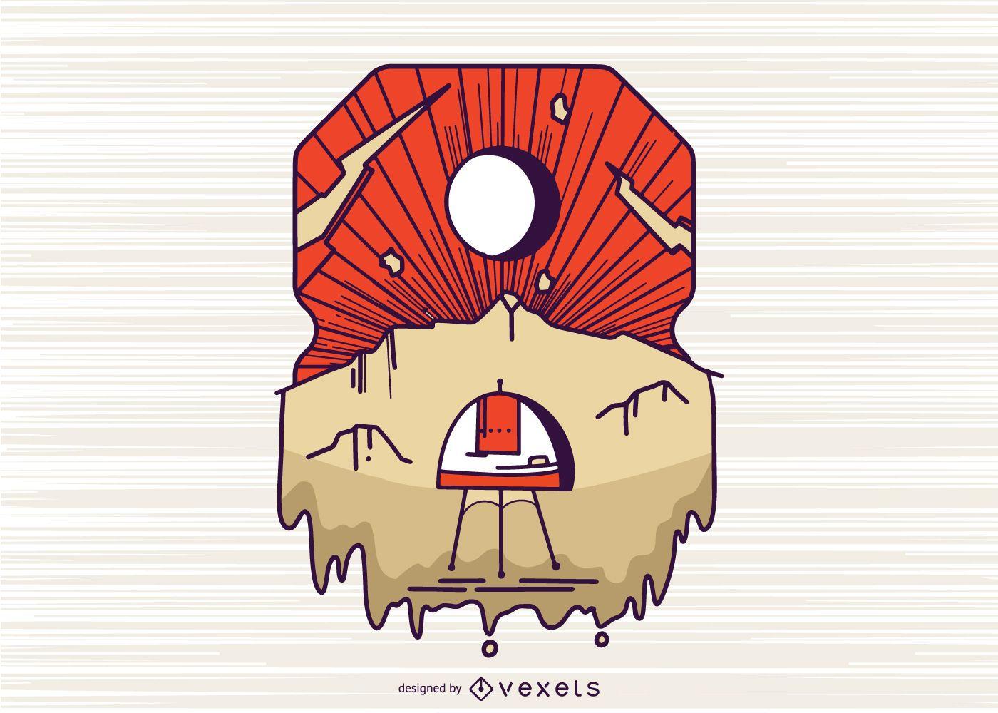 Diseño de ilustración número 8