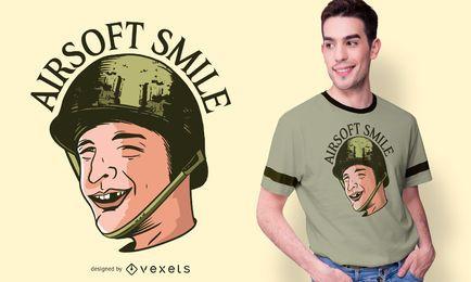 Diseño divertido de la camiseta de Airsoft del hombre sin dientes