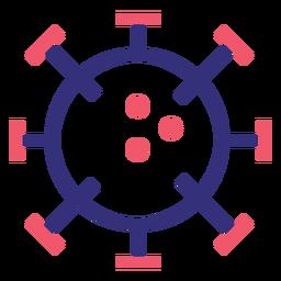 Covid 19 2019 icono de trazo de molécula ncov