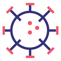 Covid 19 2019 ncov Molekül Schlaganfall Symbol