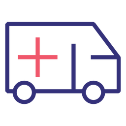 Covid 19 ambulance stroke icon