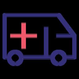 Covid 19 Krankenwagen Schlaganfall Symbol