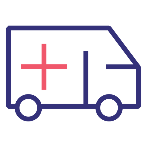 Covid 19 ambulance stroke icon Transparent PNG