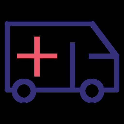 Icono de trazo de ambulancia Covid 19