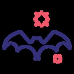 Covid 19 icono de golpe de murciélago