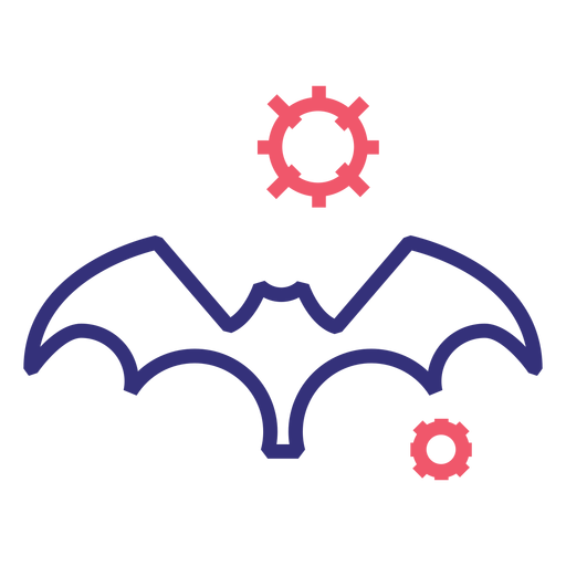 Icono de trazo de murciélago Covid 19