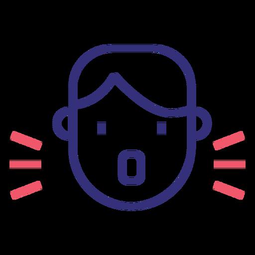 Covid 19 character stroke icon