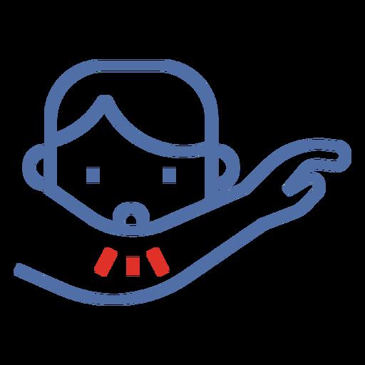 Covid 19 tos icono de trazo de codo Transparent PNG