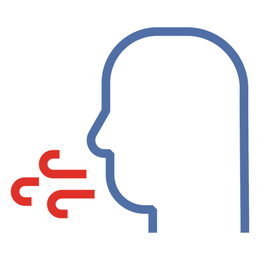 Covid 19 cough stroke icon