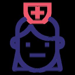 Covid 19 doctor icono de trazo
