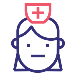 Covid 19 doctor stroke icon