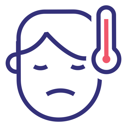 Covid 19 fever stroke icon Transparent PNG