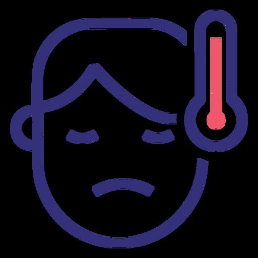 Covid 19 fever stroke icon