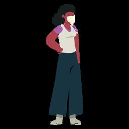Covid 19 personagem de máscara de menina