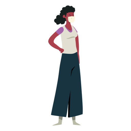 Covid 19 girl mask character Transparent PNG