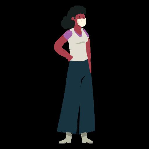 Covid 19 girl mask character