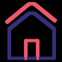 Covid 19 ícone de traçado de casa