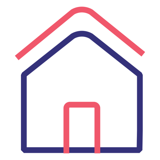 Covid 19 house stroke icon Transparent PNG