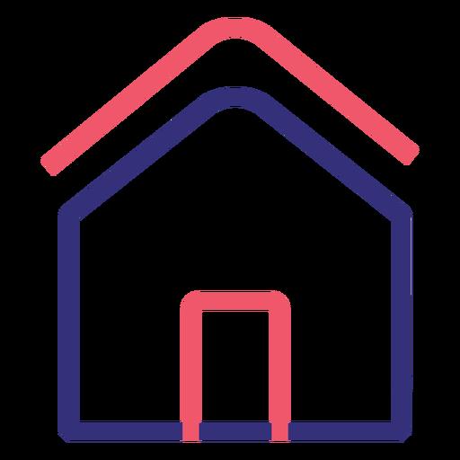 Covid 19 house stroke icon