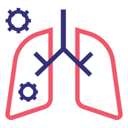 Covid 19 lungs stroke icon