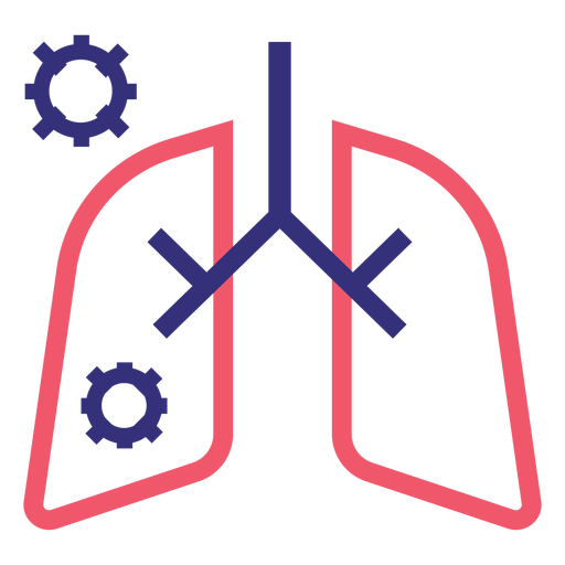 Covid 19 lungs stroke icon Transparent PNG