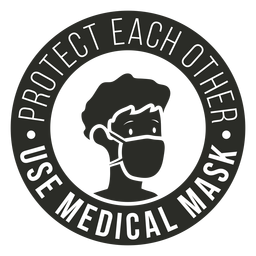Covid 19 medical mask badge