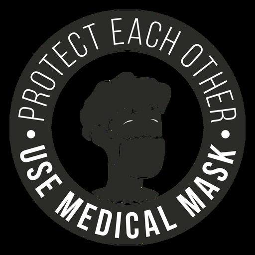 Insignia de máscara médica Covid 19