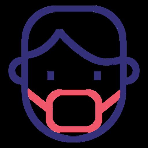 Covid 19 icono de trazo de máscara médica Transparent PNG